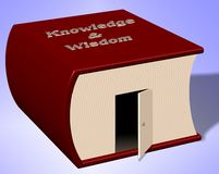 Open door to knowledge Stock Photos