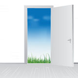 Open door to nature Royalty Free Stock Images