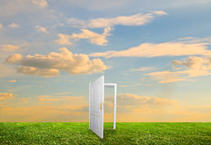 Open door to new life Stock Photography