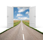 Open the door to a new reality Royalty Free Stock Photo