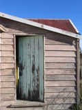 Open door to nowhere. Kitchen door on a derelict house near where I live. The house has since been demolished royalty free stock photos