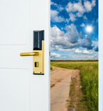 Open door to the sky Royalty Free Stock Images