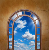 Open door to the sky Royalty Free Stock Photos