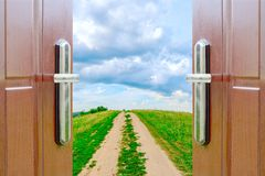 Open door to the sky Royalty Free Stock Photos