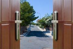 Open door to the sky Stock Images