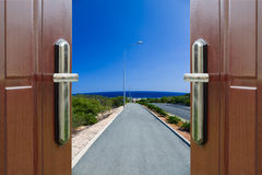 Open door to the sky Stock Photography