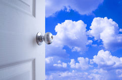 Open door to the sky Stock Images