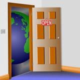 Open door to the world Stock Image