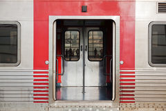 Open door of a train Royalty Free Stock Images