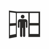 Open door. Vector icon isolated on white background stock illustration