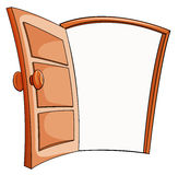 An open door. On a white background Stock Photo