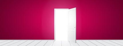 Vector open Door. White open door with pink wall. Vector illustration Royalty Free Stock & Door Open Pink Wall Stock Illustrations u2013 44 Door Open Pink Wall ...