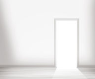Open Door in the White Wall Royalty Free Stock Image