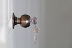 Free Open Door With Keys, Key In Keyhole Stock Photography - 59377402