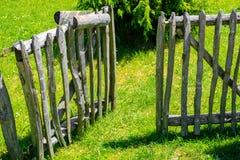 Open door in wooden fence Royalty Free Stock Images