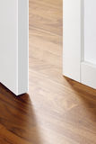 Open door with wooden floor Royalty Free Stock Photos