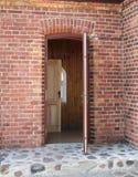 Open doors. Close-up of two open doors Stock Photos