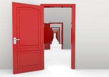 Open Doors - 3D Royalty Free Stock Photography