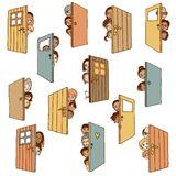 Open doors Stock Photography