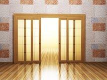 Open doors in the interior Stock Image