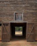 Open doors of old wooden barn. Open doors of an old wooden barn in rural Georgia Stock Image