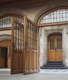 Open doors. Of a school or college building Royalty Free Stock Photo