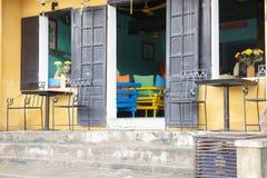 Open doors. To Asian restaurant in Hoi An, Vietnam Stock Photography
