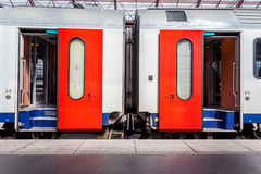Open doors from a train Stock Photography