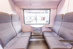 Open doors from a train. In the train station wait a train whit open doors Stock Photography