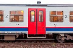 Open doors from a train stock photos