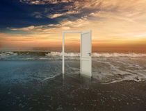 Open doorway royalty free stock photography