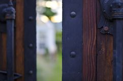 Open Doorway. An open doorway into the secret garden stock image