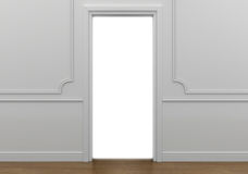 Open doorway with white light going into the abyss Stock Images