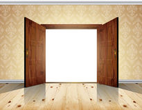 Open double door Stock Images