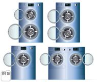 Open Double Washing machines on a white background. Vector Royalty Free Stock Photos