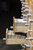 Open dozen in de archiefbibliotheek royalty-vrije stock afbeeldingen