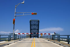 Open drawbridge Royalty Free Stock Image