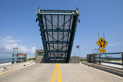 Open drawbridge Stock Image