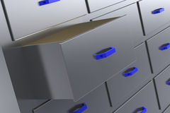 Open drawer Royalty Free Stock Photo