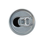 Open drink can topview isolated Stock Photos