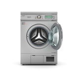 Open Dryer machine on a white background. 3d illustration vector illustration