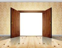 Open dubbele deur Stock Afbeeldingen