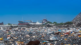 Open dumping site Stock Image