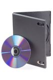 Open DVD box isolated on a whi. Te Stock Photo