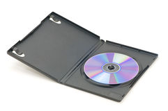 Open DVD case. Isolated on a white stock photo