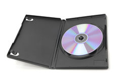Open DVD case. Isolated on a white background royalty free stock photos