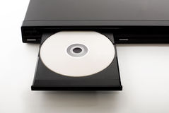 Open DVD-Player. An open dvd-player with a dvd in it Royalty Free Stock Image