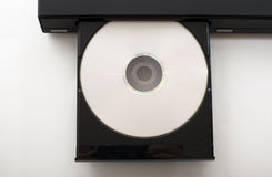 Open DVD-Player. An open dvd-player with a dvd in it Stock Image