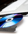 Open DVD tray Stock Images