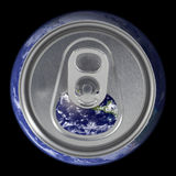 Open earth soda can lid Royalty Free Stock Image